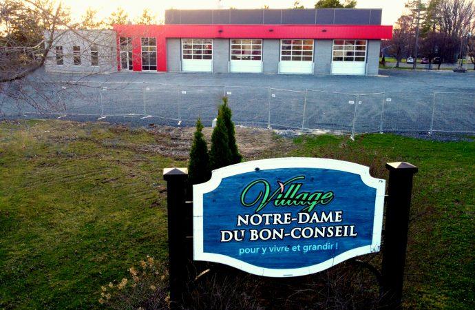 Fin des travaux de construction de la nouvelle caserne de pompiers à Notre-Dame-du-Bon-Conseil
