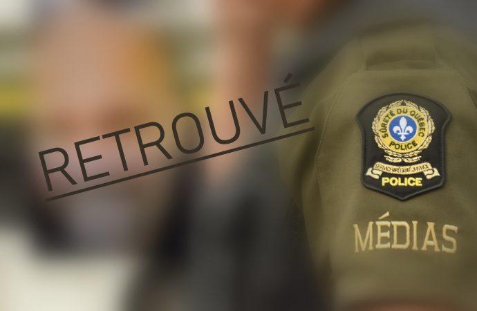 RETROUVÉ : La Sûreté du Québec confirme que M Lalancette a été retrouvé sain et sauf
