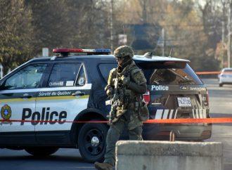Important déploiement policier et du G.T.I sur le Boul St-Joseph à Drummondville