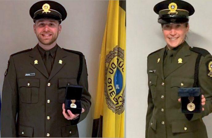 Journée de reconnaissance policière – Deux policiers et un citoyen honorés au Centre-du-Québec