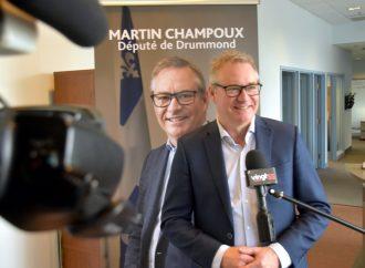 Martin Champoux sollicite officiellement un deuxième mandat comme député du Bloc Québécois dans Drummond