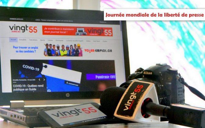 En cette journée mondiale de la liberté de presse, le Vingt55 rappelle l'importance du travail des journalistes et des médias