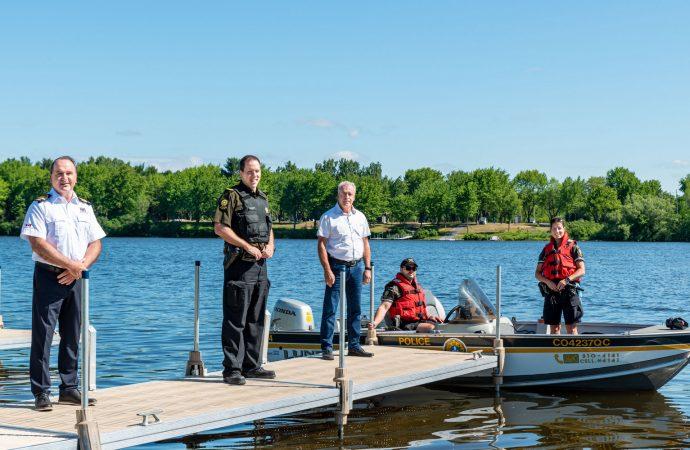 La Ville de Drummondville et la Sûreté du Québec invitent à la prudence sur les plans d'eau et la rivière Saint-François