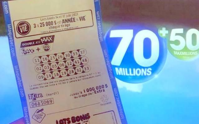 Le Lotto Max fait des gagnants au Québec – Un total de 120 millions de dollars sera offert au prochain tirage