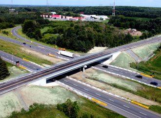 Notre-Dame-du-Bon-Conseil – Mise en service du nouveau pont d'étagement du 9e rang de Wendover