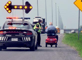 Le conducteur d'un triporteur se fait arrêter à nouveau et saisir son véhicule sur l'autoroute 20 à Drummondville