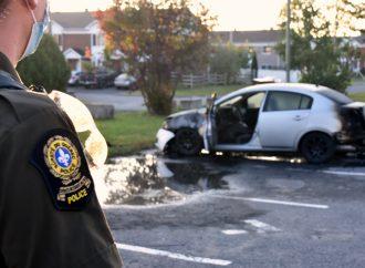 Deux véhicules incendiés au cours des dernières heures à Drummondville, la SQ enquête
