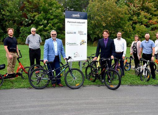Mobilité durable – Faciliter l'utilisation du vélo, des actions concrètes grâce à un Partenariat coopératif avec la Caisse Desjardins de Drummondville
