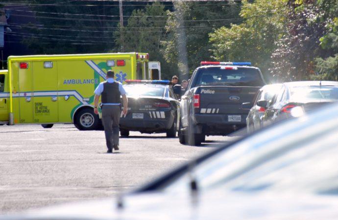 Important déploiement policier sur la rue Comeau à Drummondville