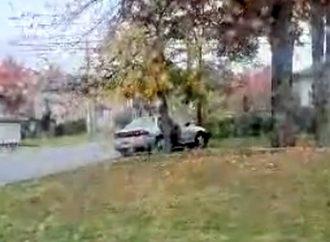 Une apprentie conductrice perd le contrôle et percute un arbre à Drummondville